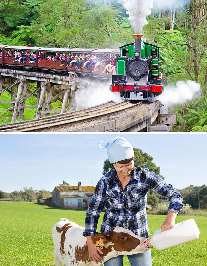 華洛克農莊 南門亞拉河畔 普芬蒸汽火車