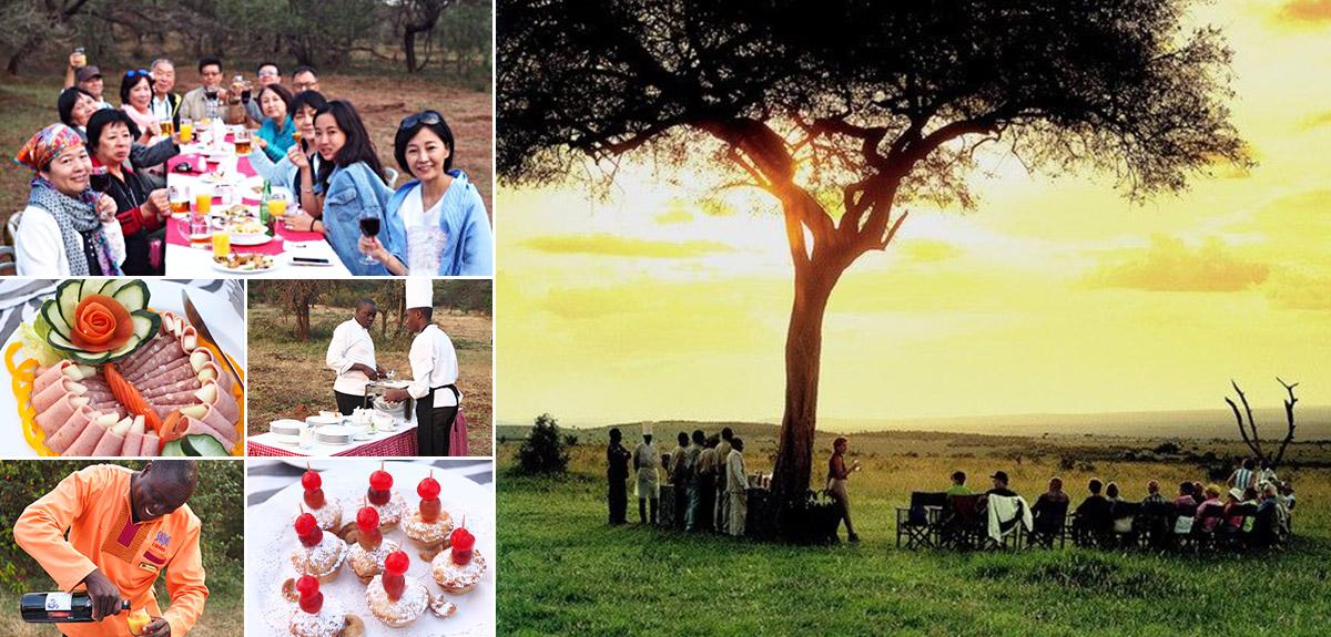 肯亞喝香檳、品美食、賞落日、觀夕陽