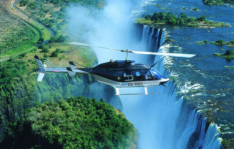 直升機鳥瞰維多利亞瀑布