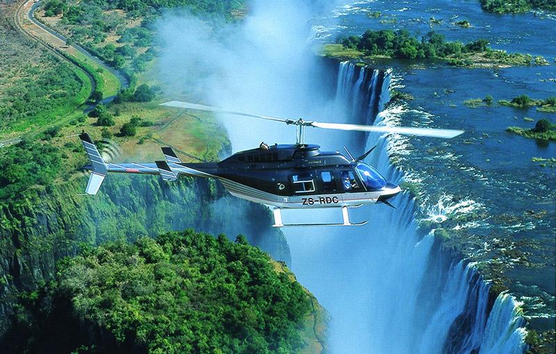 直升機俯瞰維多利亞瀑布