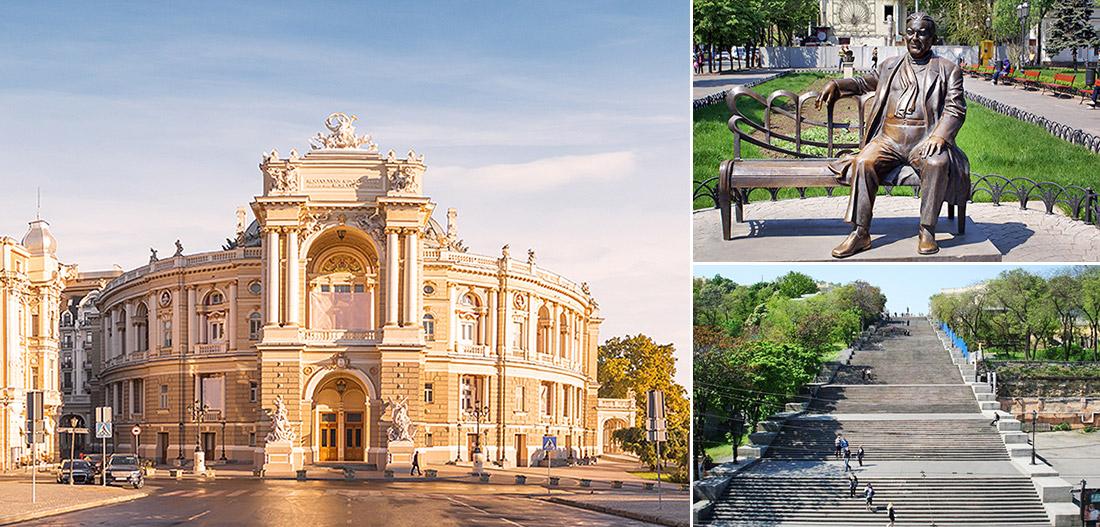敖德薩歌劇芭蕾劇院 / 黎塞留公爵雕像 / 波將金階梯