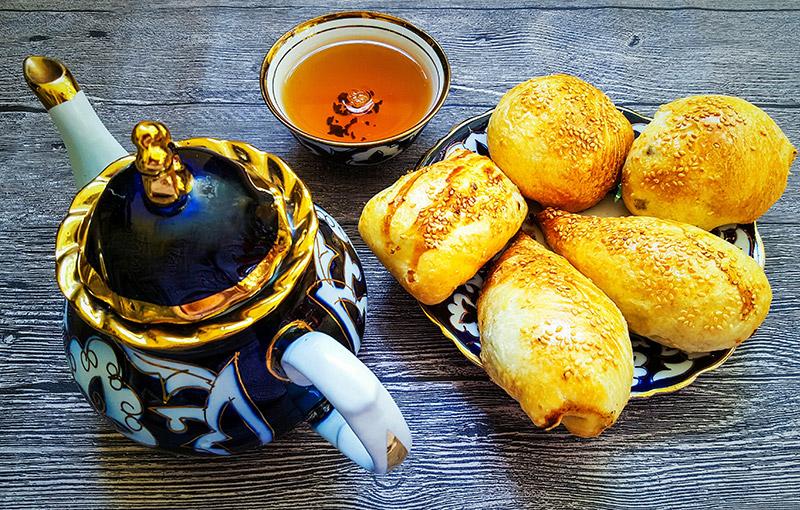 烏茲別克黑茶與南瓜餐食