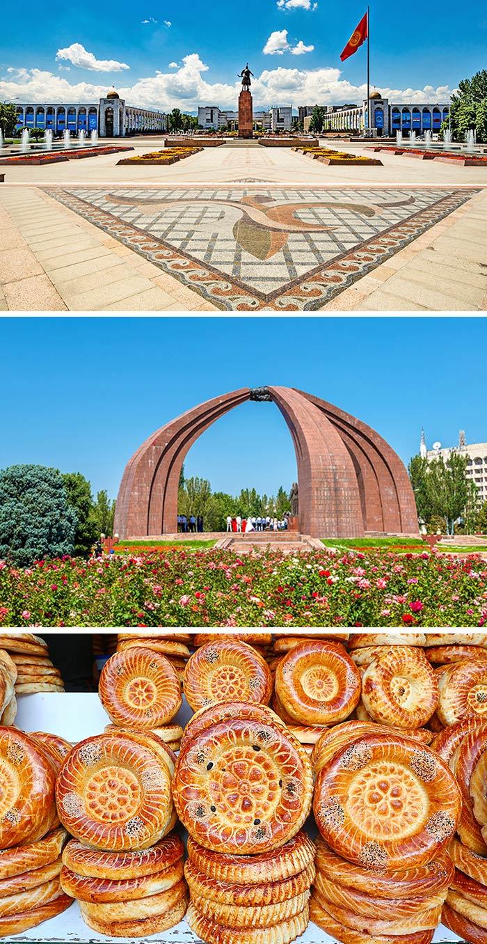 勝利紀念碑/比什喀克料理/阿拉土廣場