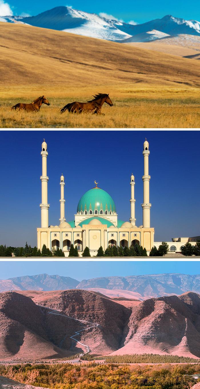 哥克德佩國際馬場汗血寶馬/薩帕爾穆拉特哈吉清真寺/科佩達格山脈