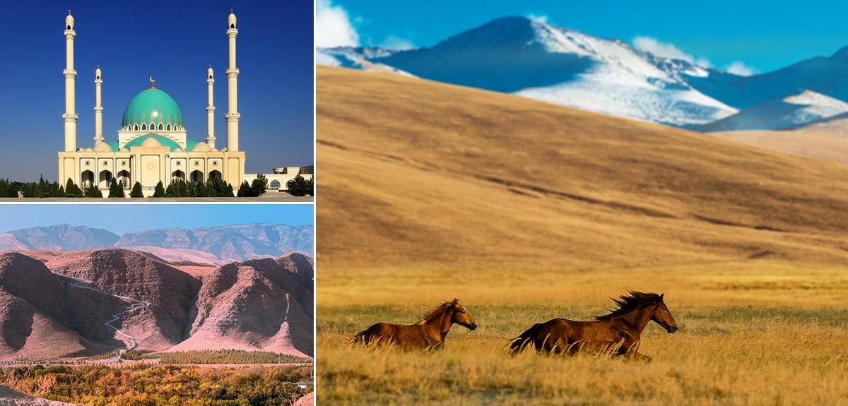 薩帕爾穆拉特哈吉清真寺/科佩達格山脈/哥克德佩國際馬場汗血寶馬