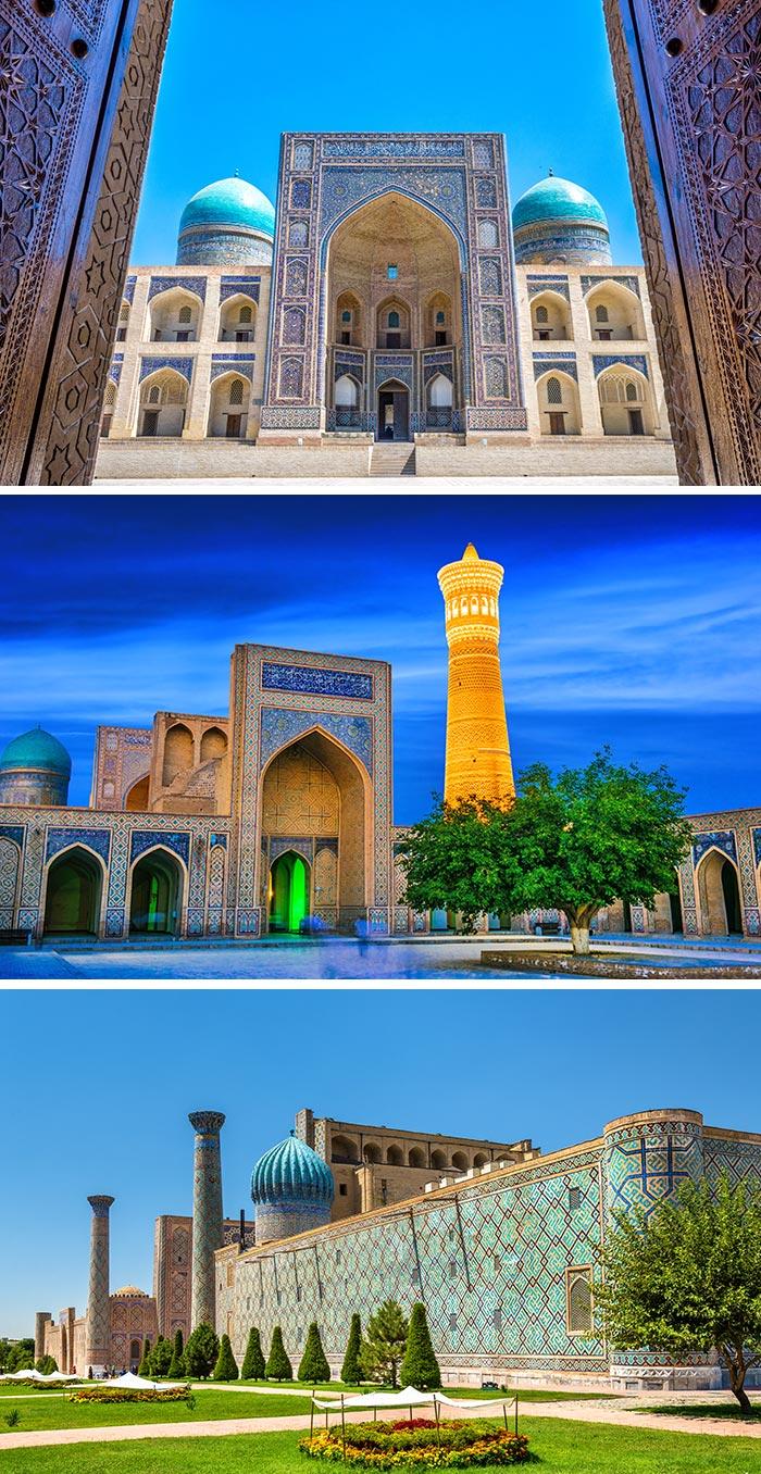 卡龍清真寺和宣禮塔/撒爾馬罕